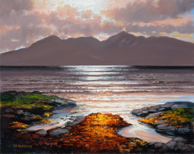 Sunset over Arran from Troon