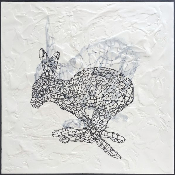 Fell Runner, Vanessa Lawrence, #196: watercolour and ink on plaster panel, 81x81cm