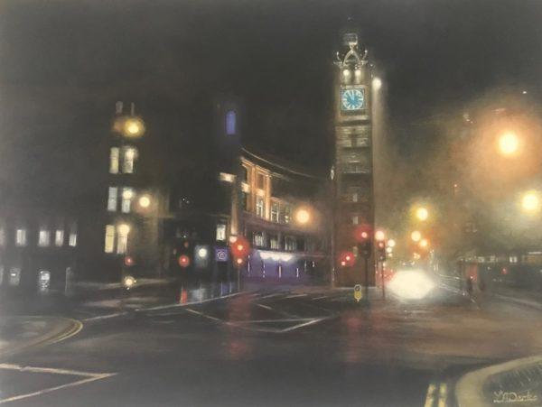 Glasgow Cross Glow #2, Lesley Anne Derks, #089: oil, 30x40cm