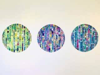 Happiness, Angela Pieraccini, #295: acrylic on canvas, 3x50x19.6cm, £350 each or £1050 for all 3