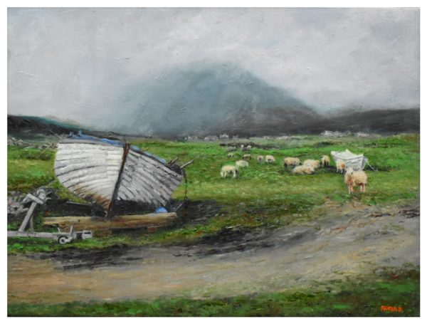 Harris Scene, Kenneth Gould, #142: oil on canvas, 61x45.5cm