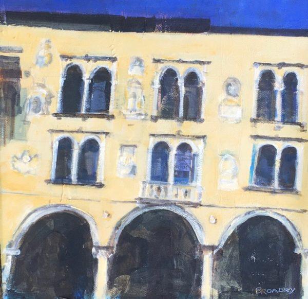 Veronese Façade, Joe Broadley, #033: mixed media on canvas, 30x30cm