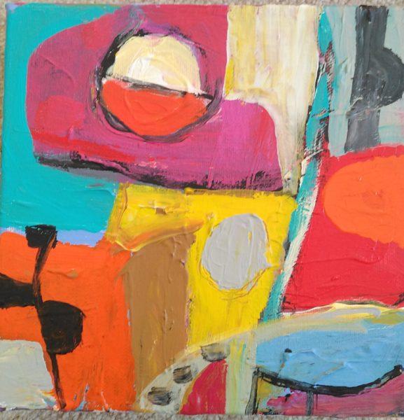 Summer Shapes, Kevin Orr, #282: acrylic on canvas, 21x20cm