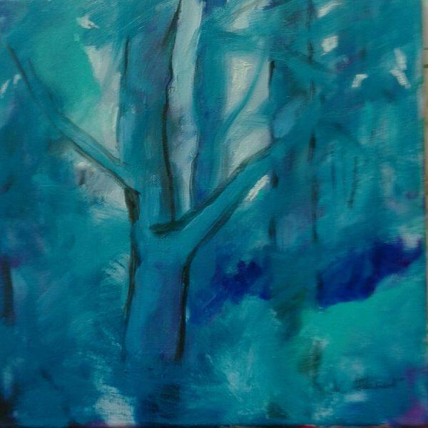 In the Dark Wood, Marie Stewart, #343:  acrylic, 30.5x30.5cm