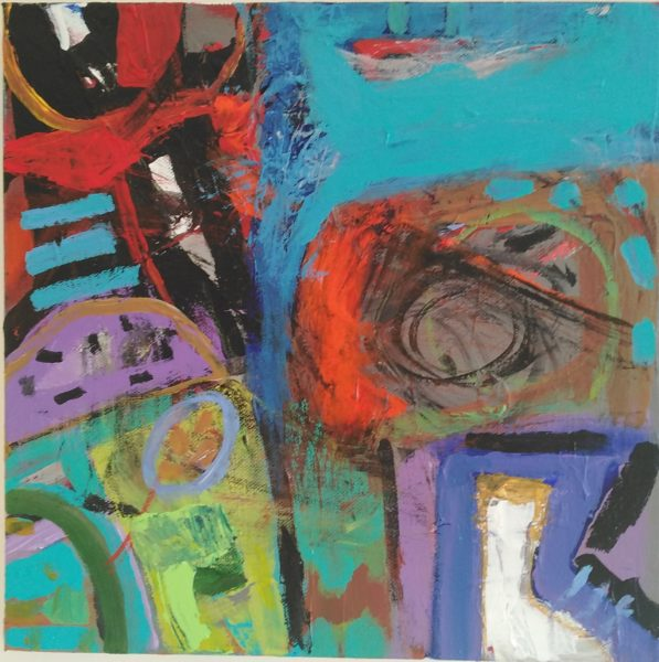 Pool of Light, Kevin Orr, #281: acrylic on canvas, 30x30cm