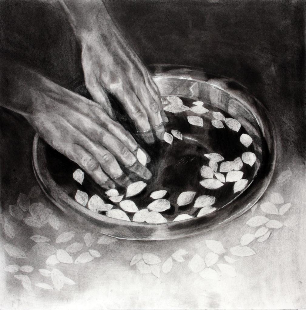 I immerse my hands in my fallen memories