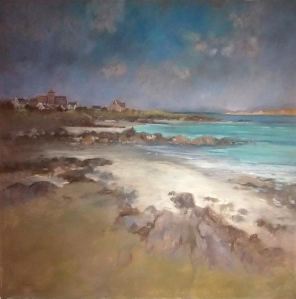 Breaking Light Iona, Leila Neal, #273: oil, 90x90cm
