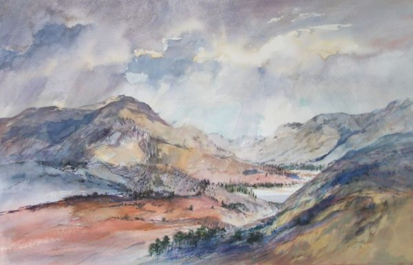 Glimpse of Loch Katrine, Julia Gurney, Watercolour, 90 x 67 cm