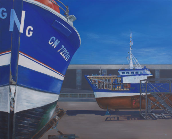 Le Grand Bleu, Normandie, Lynn Hunter, #171: acrylic, 80x100cm, NFS
