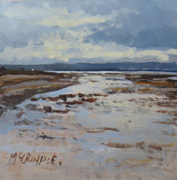 Messy Tide, Elizabeth McCrindle, #229: acrylic, 15x15cm
