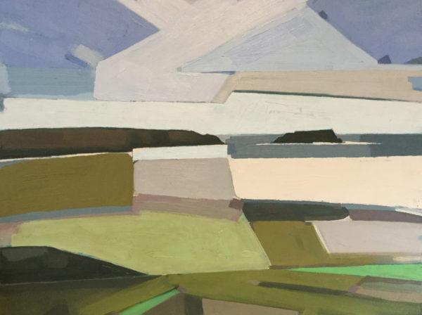 Coastal Geometry, Michelle Ives, #176: acrylic, 74x59cm