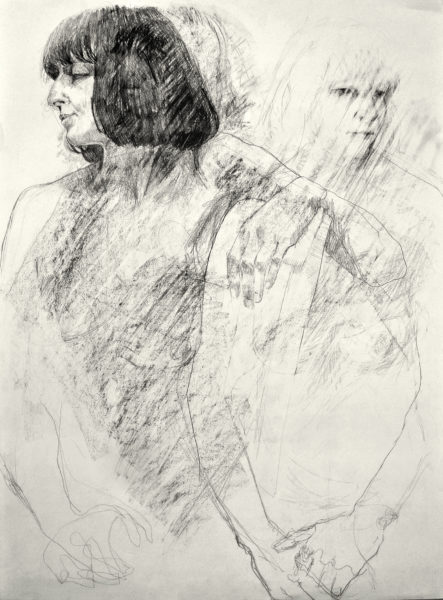 She Is, They Are, Nicola Carberry, #054: Graphite on paper, 84.1x59.4cm