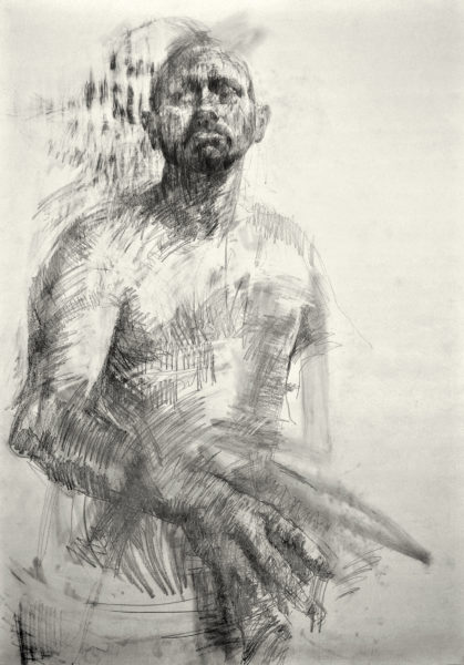 Gesture, Nicola Carberry, #055: Graphite on paper, 84.1x59.4cm