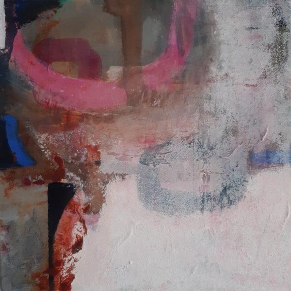 No Longer An Island I, Pascale Steenkiste, #338:  acrylic, 40x40cm