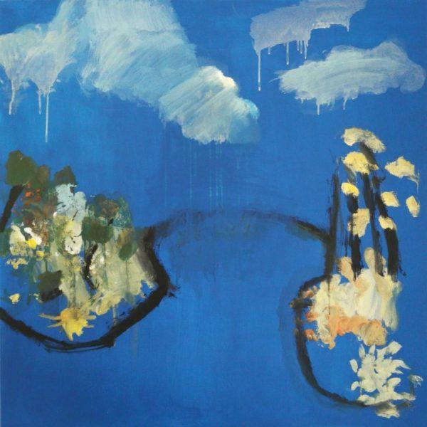 Garden walk, Mary Gillespie, #137:  acrylic paint on canvas, 100x100cm