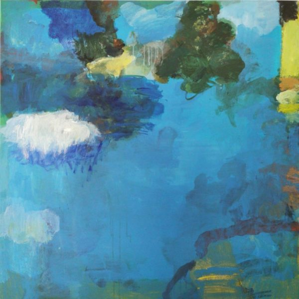 Reflection on Spring, Mary Gillespie, #136: acrylic paint on canvas, 100x100cm