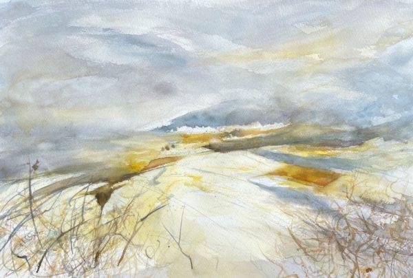 Traprain spring, Sheena F Phillips, #293:  watercolour, 78x60cm