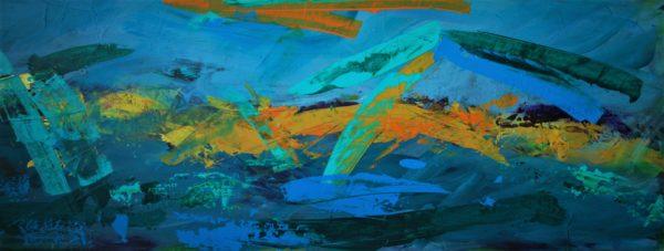 Spring, Graeme Swanson, #350:  acrylic on board, 36x100cm