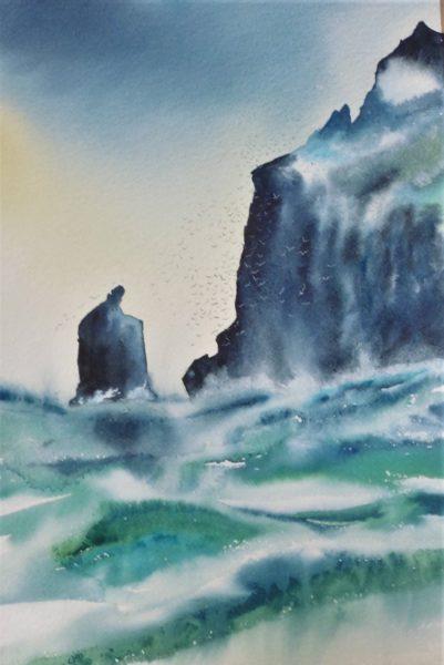 St Kilda Revisited, , #083: watercolour, 67x87cm Catriona Darroch