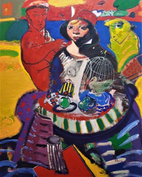 The Gilded Cage, Joe Hargan, #156: acrylic on canvas, 156x122cm