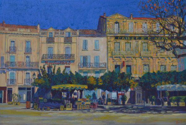 The Square, Allan Black, #024: acrylic 56x38cm