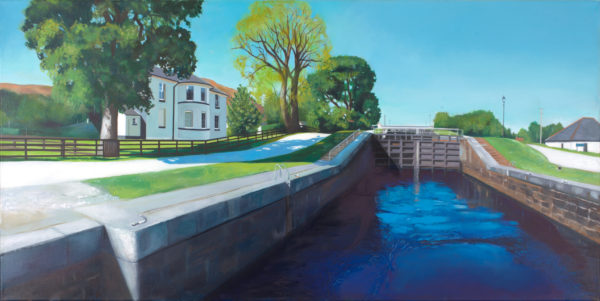 Thomas Telford's House, Lesley Banks, #016: oil on deep edge linen, 50x100cm