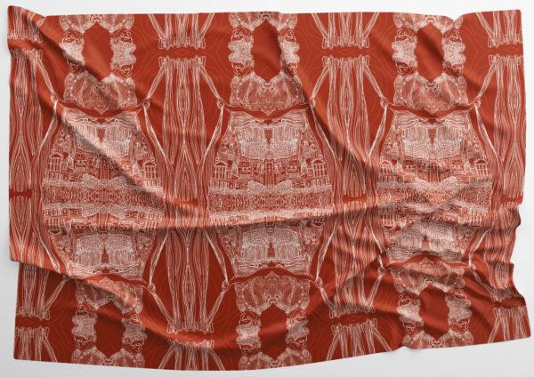 Weavers Damask, Catherine Campbell, #051: digital textile, 59.4x42cm