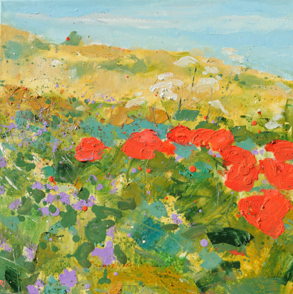 Wild Flowers, Robert Innes, #175: oil on canvas, 50x50cm