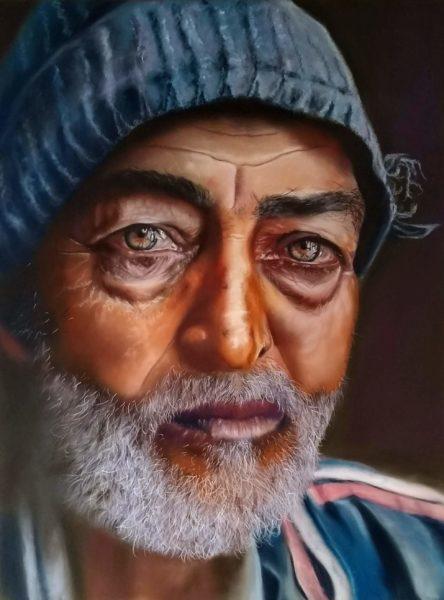 A Fishermans Tale, Wendy Greig, #146: soft pastels, 50x70cm