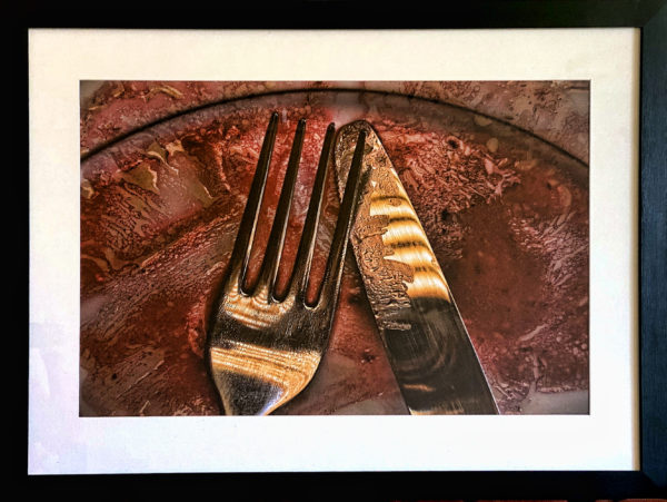 Fork and Knife, Bill Crookston, #082: photographic print, 74x100cm