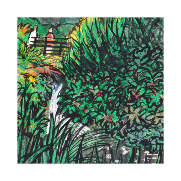 Botanical Gardens, Christopher McColl, #227: watercolour, ink and wax crayon, 29x29cm