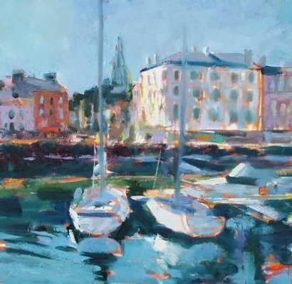 Morning Light Rothesay, Chick McGeehan, Oil - 40x40cm