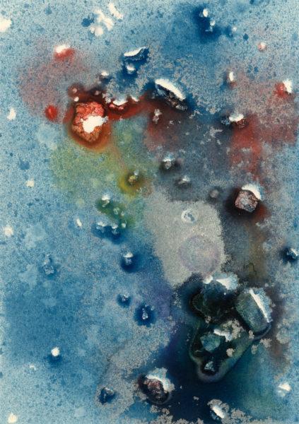 Dissolvere, Matteo Rosa, #314:  mixed media, 14.8x21cm, unframed