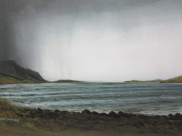 Scapa Flow Orkney, Gregor Smith, Watercolour