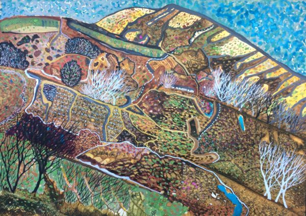 Highland croft, Gwen Fleming, #115: watercolour and gouache on paper, 35x25cm, unframed