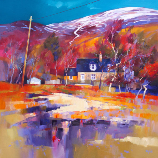Winter Sunshine, Jim Wylie, #383: oil on canvas, 60x60cm, unframed