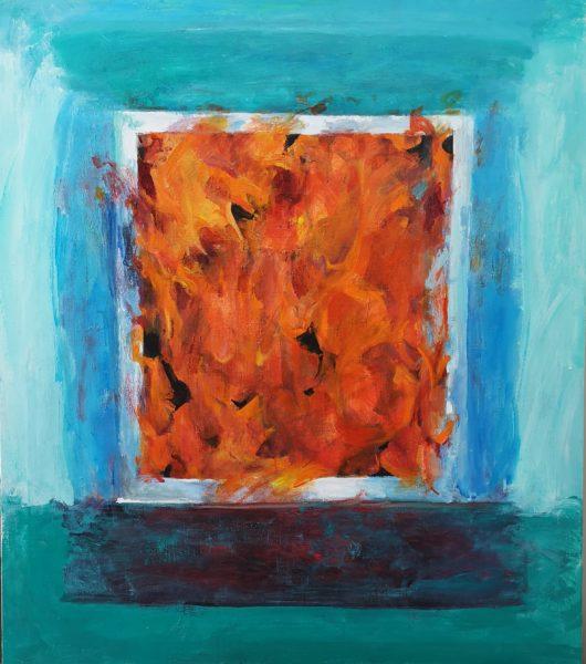 Slowly Burning Into The Equation, Karen Blain (Phipps), #026: acrylic on canvas, 122x107cm