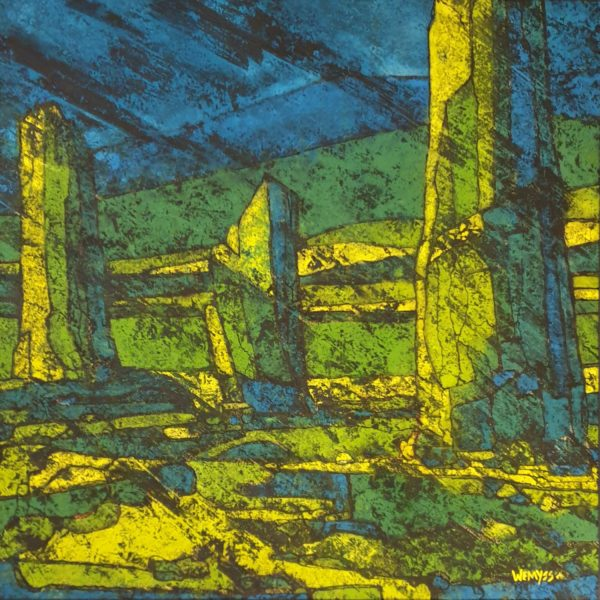Machrie 1, Penny Wemyss, #361:  gouache and indian Ink, 53x53cm