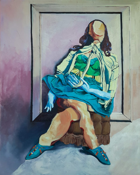 My lockdown companion, Karolina Franceschini, #124: oil on canvas, 80x100cm