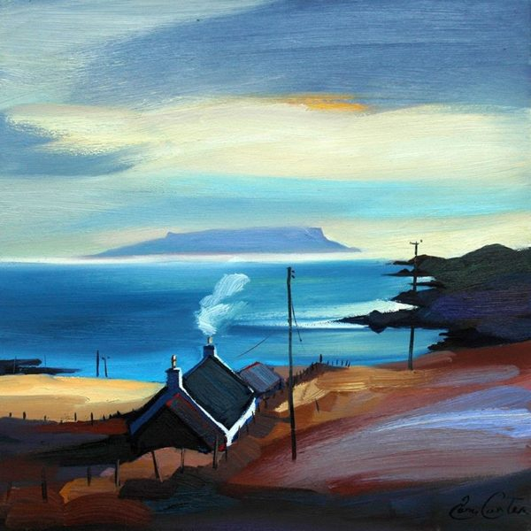 Aird to Eigg, Pam Carter, 16 x 16 Inches