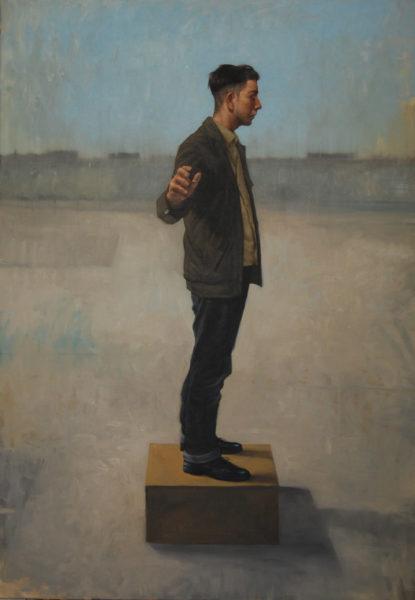 Sentinel, Graeme Wilcox, #366:  oil, 135x95cm