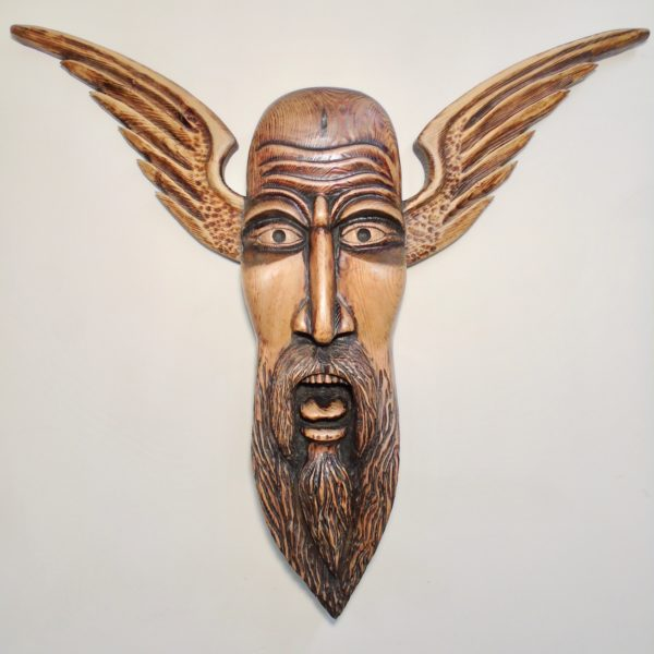 Norse Totem, Alex Ramsay, #298:  waxed red pine, 104x97x15.5cm