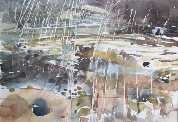 Squall from the Minch, Susan MacColl, #205: watercolour, 54x44cm