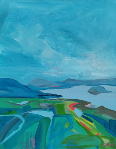 View from Ben Bouie, Mary McDonald, oil on canvas 80x100cm