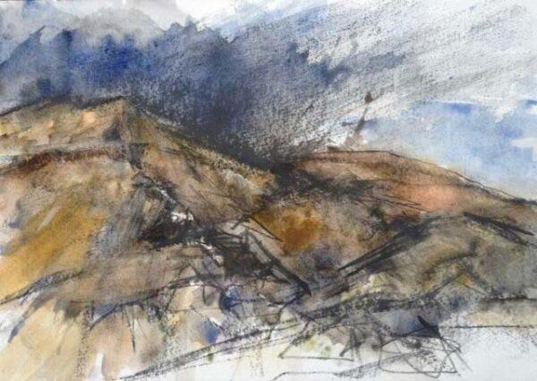 Mealista, Rebecca Styles, watercolour and graphite on paper 21x31cm