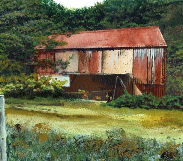 The White Water Tank, Allan J. Robertson, watercolour on paper, 19x22cm