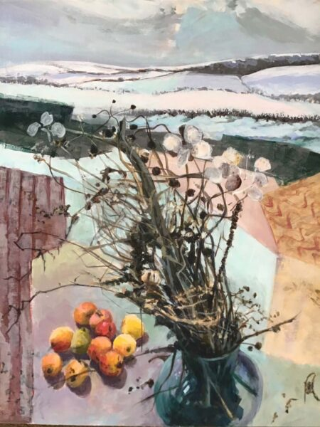 Winter Still Life, Margaret Mac Donald, Margaret MacDonald, acrylic on board
