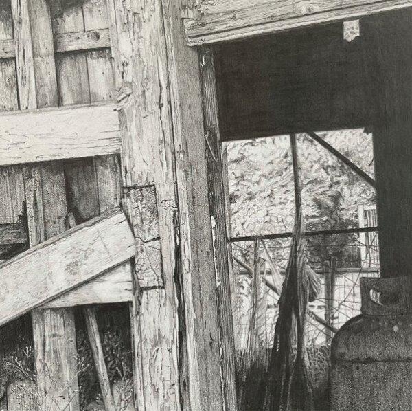Moniaive, Ross Fulton, Pencil on paper  Framed 42cm2