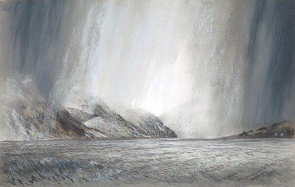 Winter weather, off Gourock, Gregor Smith, Pastel Framed 50 x 66 cms