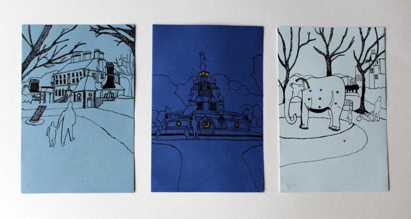 Glasgow Parks Triptych